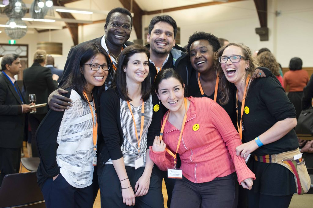 Volunteers at the Diasporas in Action conference 2016. Photo by Lara McKinley.