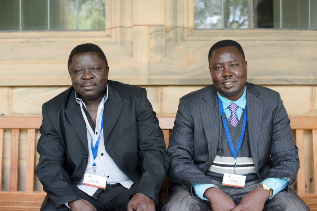 Haroun Kofi and Komi Bana from the Nuba Mountains International diaspora group at the Diasporas in Action conference, September 2016